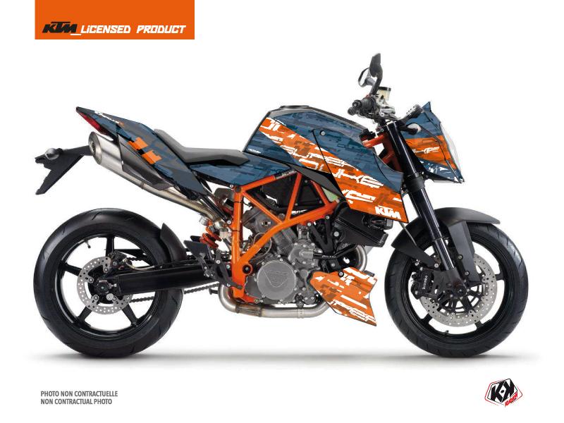 KTM Super Duke 990 R Street Bike Krav Graphic Kit Orange Blue