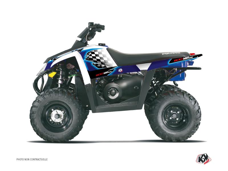Polaris Scrambler 500 ATV Last Edition Graphic Kit Blue