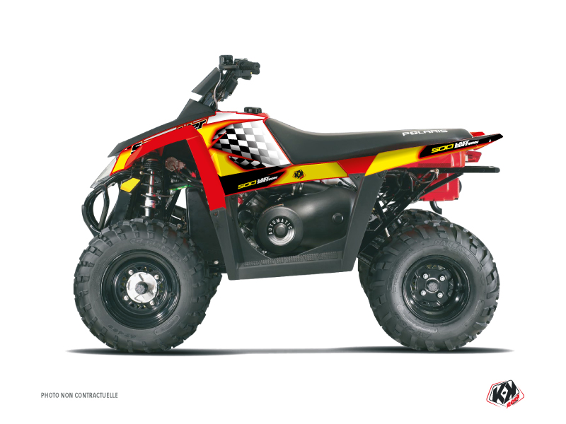 Polaris Scrambler 500 ATV Last Edition Graphic Kit Yellow