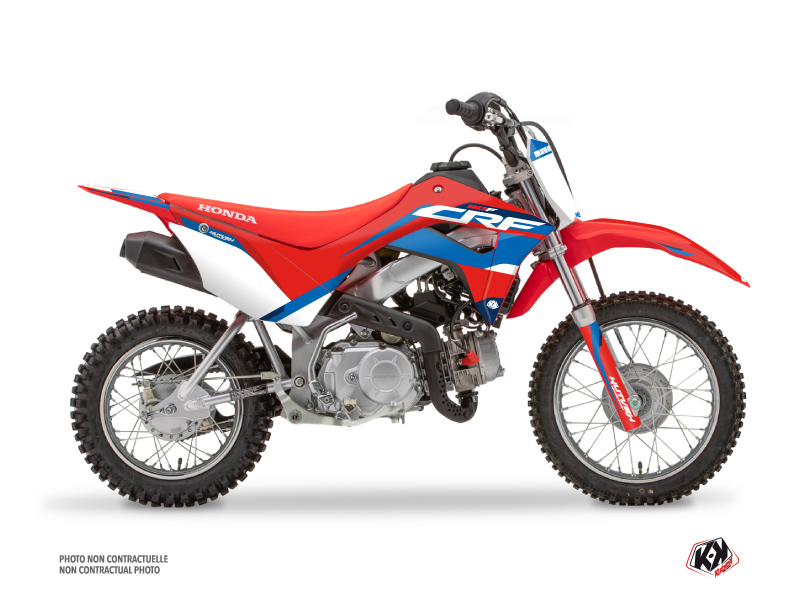 Kit Déco Moto Cross League Honda 110F CRF Rouge