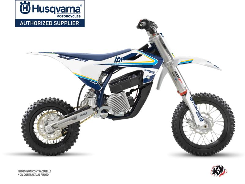 Husqvarna EE-5 Dirt Bike Legacy Graphic Kit Blue Yellow