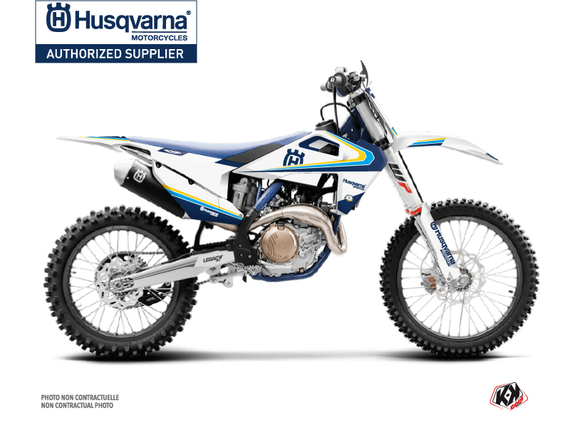Husqvarna FC 350 Dirt Bike Legacy Graphic Kit Blue Yellow