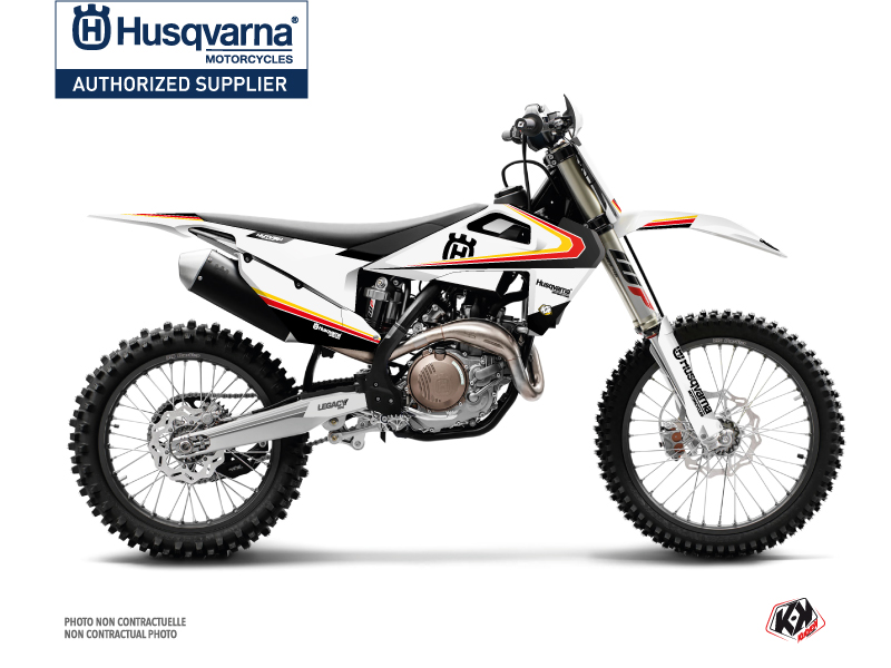 Husqvarna FC 350 Dirt Bike Legacy Graphic Kit Black Yellow