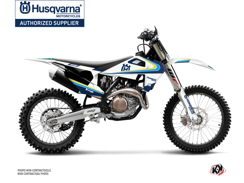 Husqvarna TC 125 Dirt Bike Legacy Graphic Kit Blue Yellow
