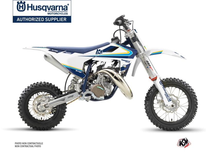 Husqvarna TC 50 Dirt Bike Legacy Graphic Kit Blue Yellow