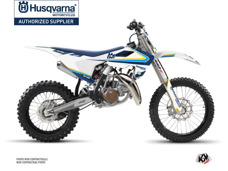 Kit Déco Moto Cross Legacy Husqvarna TC 85 Bleu Jaune