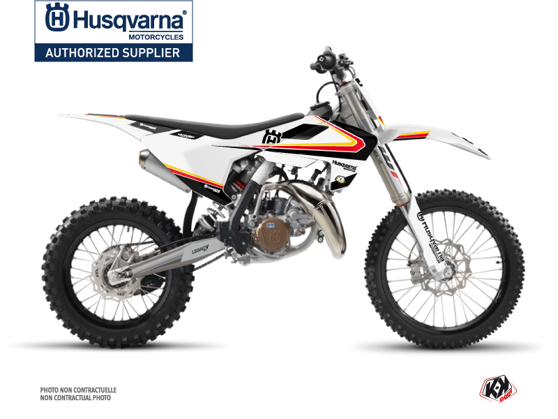 Husqvarna TC 85 Dirt Bike Legacy Graphic Kit Black Yellow