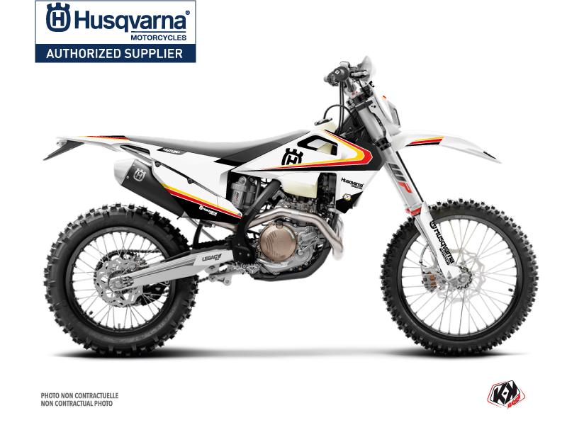 Husqvarna 125 TE Dirt Bike Legacy Graphic Kit Black Yellow