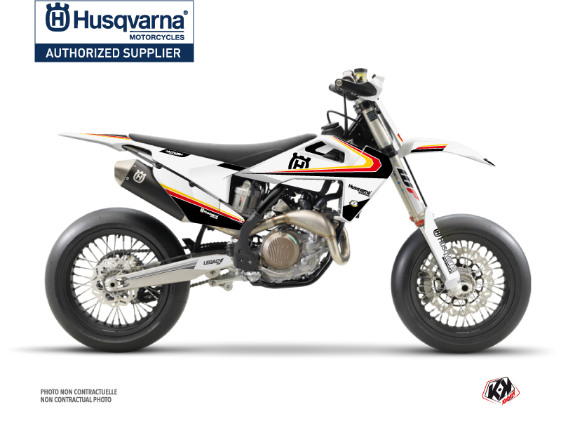 Husqvarna 450 FS Dirt Bike Legacy Graphic Kit Black Yellow