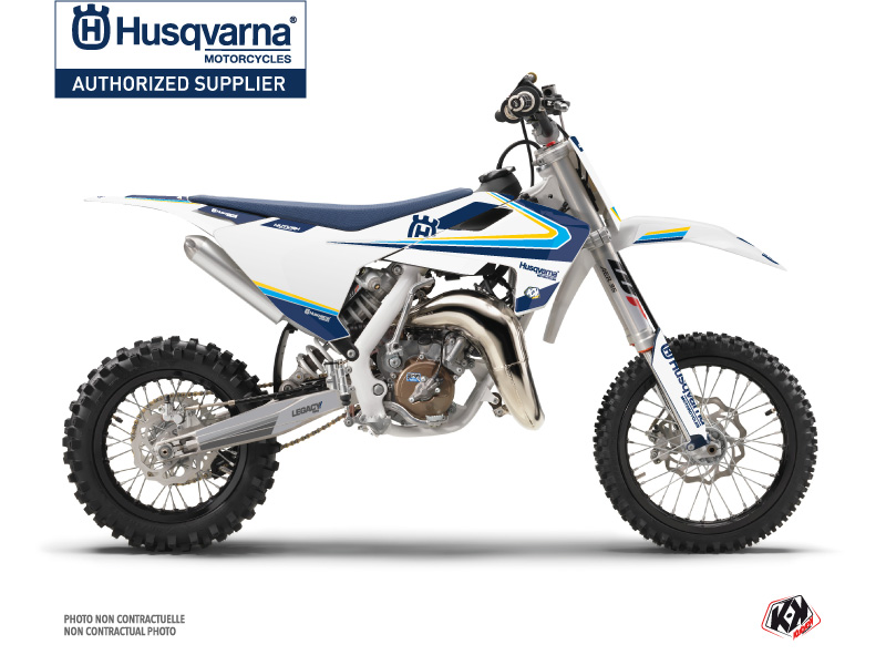 Husqvarna TC 65 Dirt Bike Legacy Graphic Kit Blue Yellow
