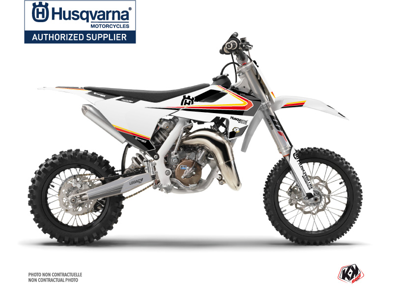 Husqvarna TC 65 Dirt Bike Legacy Graphic Kit Black Yellow