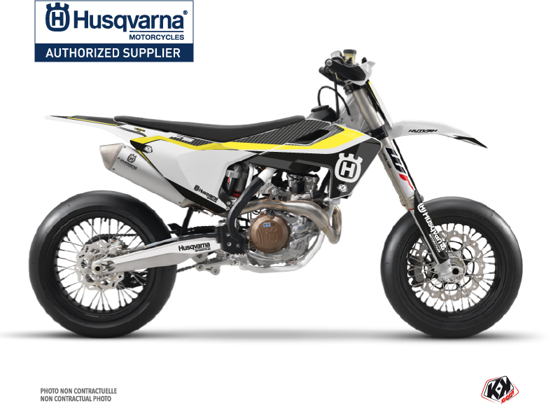 Husqvarna 450 FS Dirt Bike Legend Graphic Kit Black