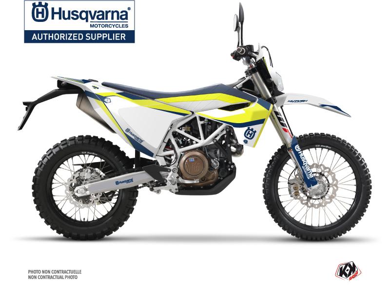 Husqvarna 701 Enduro Dirt Bike Legend Graphic Kit Blue