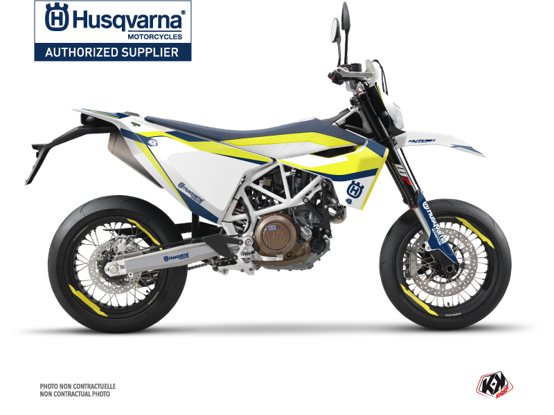 Husqvarna 701 Supermoto Street Bike Legend Graphic Kit Blue