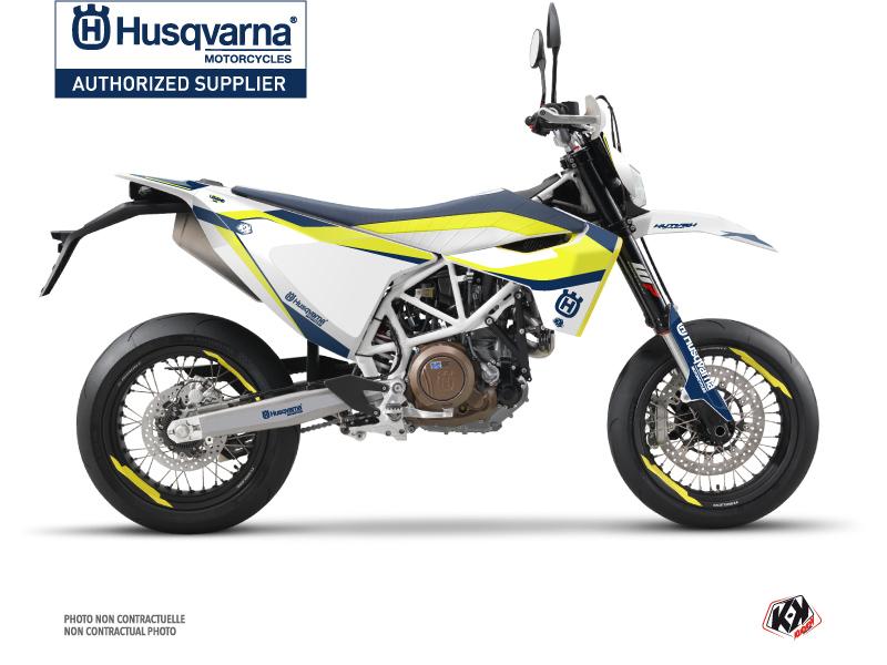 Husqvarna 701 Supermoto Dirt Bike Legend Graphic Kit Blue