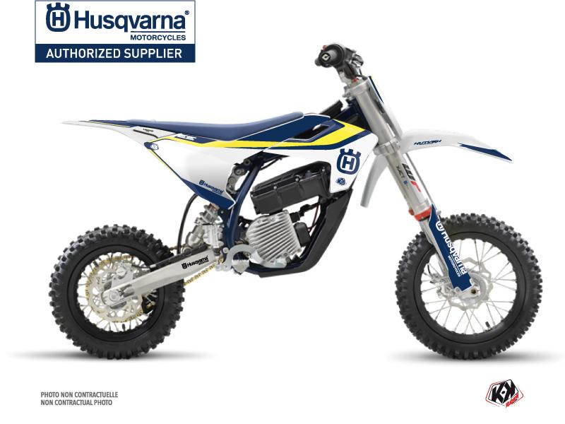 Husqvarna EE-5 Dirt Bike Legend Graphic Kit Blue