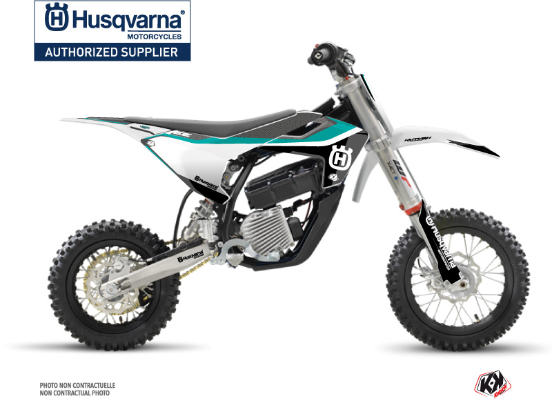 Kit Déco Moto Cross Legend Husqvarna EE-5 Turquoise