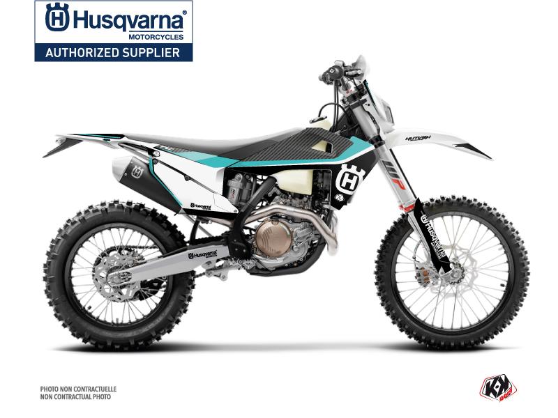 Husqvarna 250 FE Dirt Bike Legend Graphic Kit Turquoise