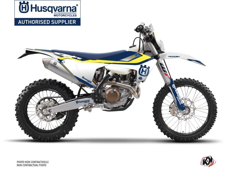 Husqvarna 350 FE Dirt Bike Legend Graphic Kit Blue