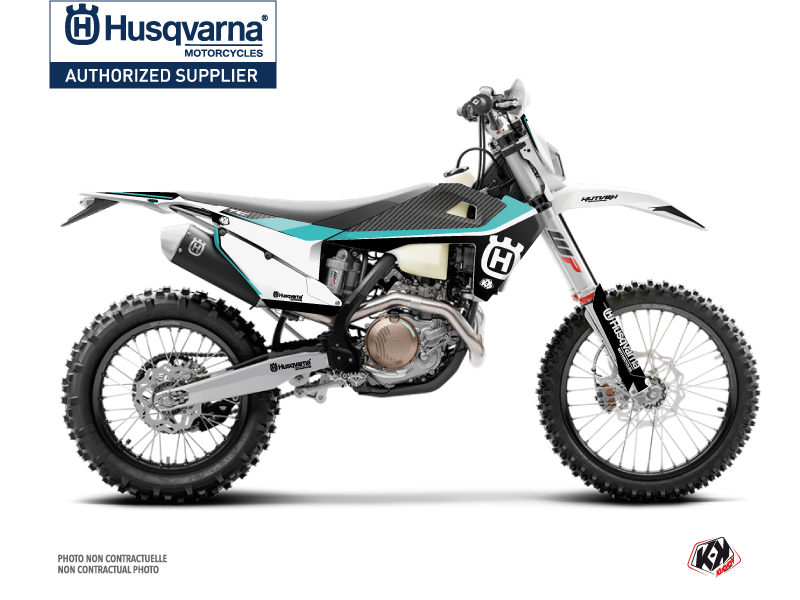 Husqvarna 350 FE Dirt Bike Legend Graphic Kit Turquoise