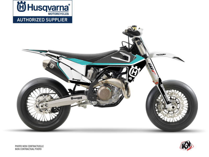 Husqvarna 450 FS Dirt Bike Legend Graphic Kit Turquoise