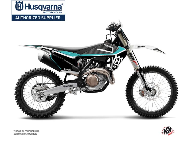 Husqvarna TC 125 Dirt Bike Legend Graphic Kit Turquoise