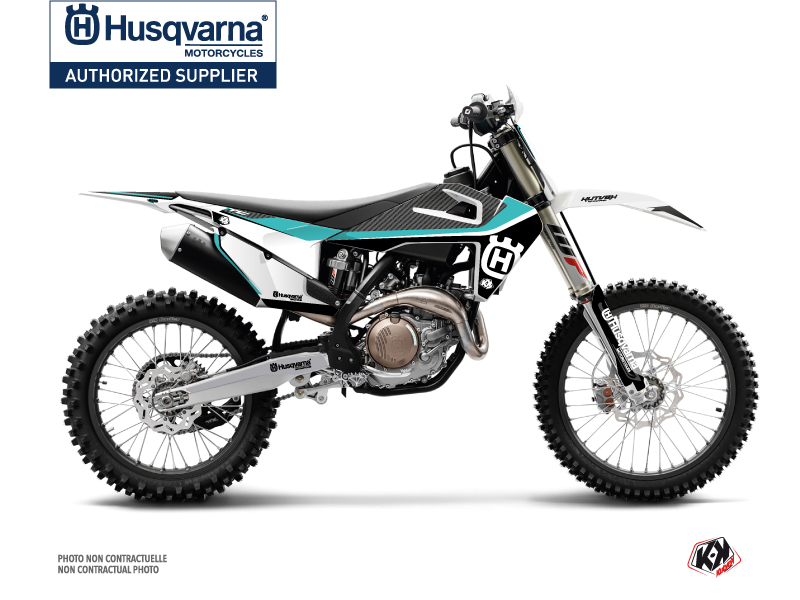Husqvarna TC 250 Dirt Bike Legend Graphic Kit Turquoise