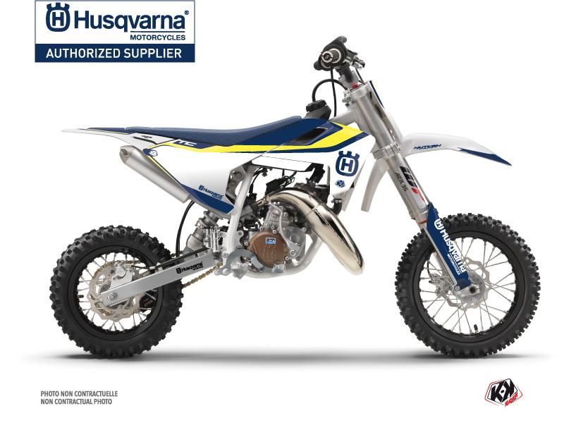 Husqvarna TC 50 Dirt Bike Legend Graphic Kit Blue