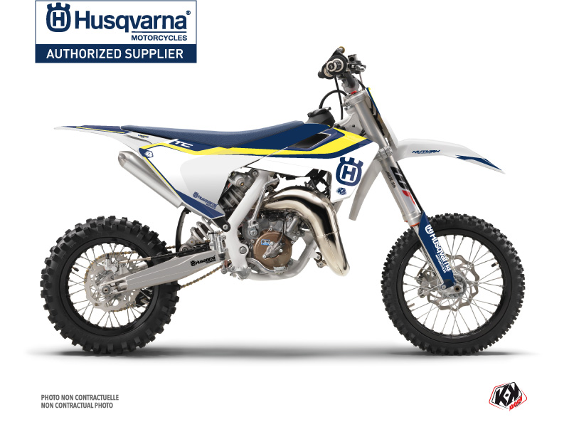 Husqvarna TC 65 Dirt Bike Legend Graphic Kit Blue