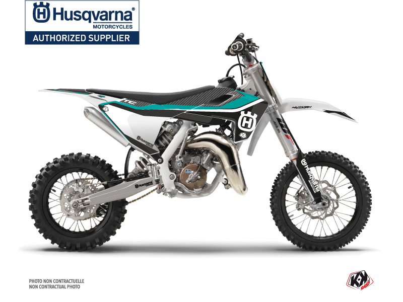Husqvarna TC 65 Dirt Bike Legend Graphic Kit Turquoise