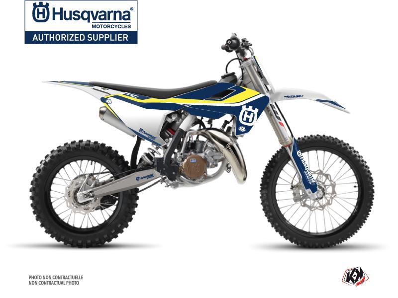 Husqvarna TC 85 Dirt Bike Legend Graphic Kit Blue