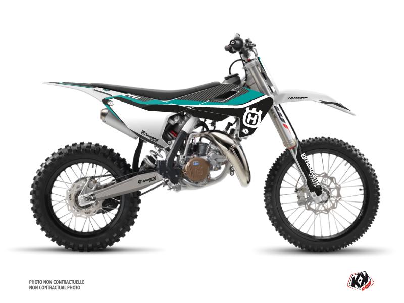 Husqvarna TC 85 Dirt Bike Legend Graphic Kit Turquoise