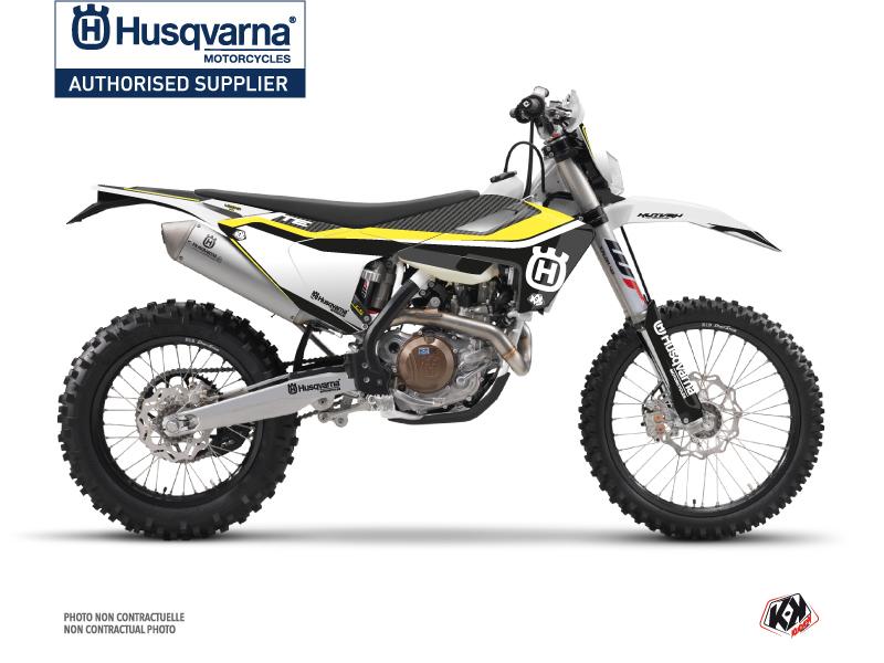 Husqvarna 125 TE Dirt Bike Legend Graphic Kit Black