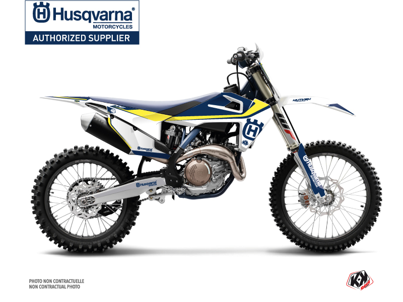 Husqvarna FC 350 Dirt Bike Legend Graphic Kit Blue