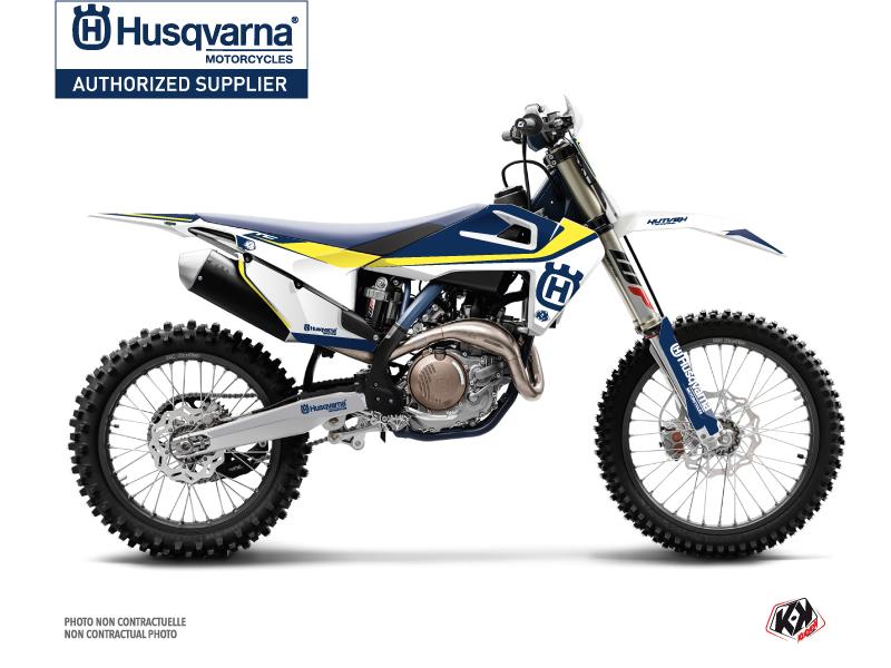 Husqvarna FC 450 Dirt Bike Legend Graphic Kit Blue