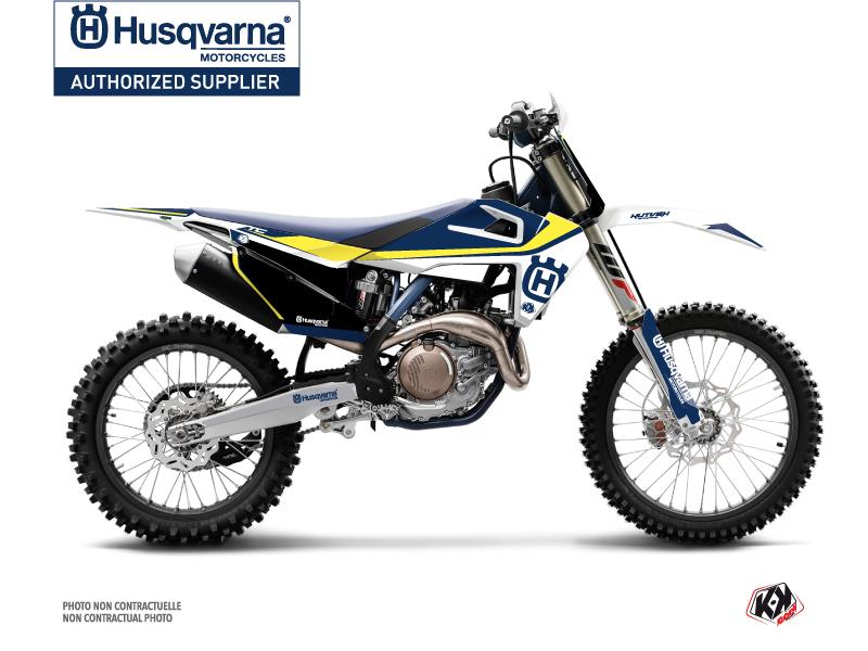 Husqvarna TC 125 Dirt Bike Legend Graphic Kit Blue