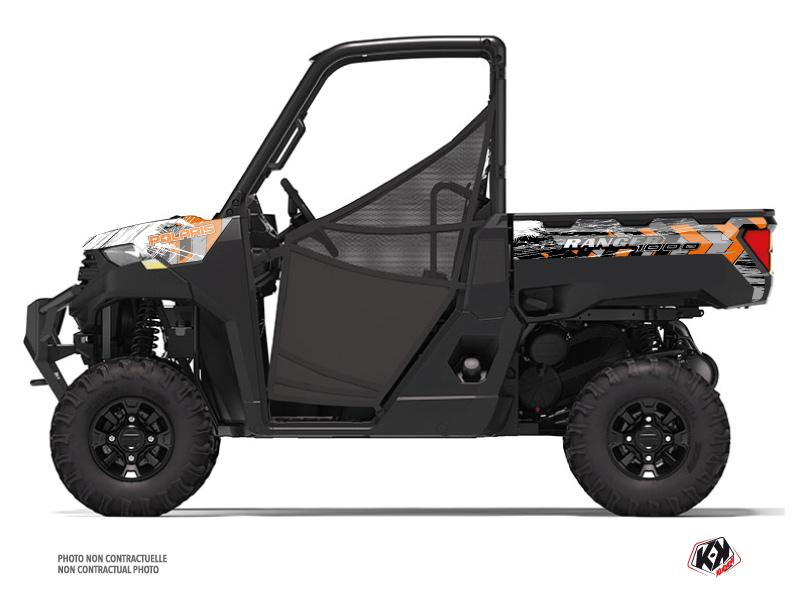 Polaris Ranger 1000 UTV Lifter Graphic Kit Orange