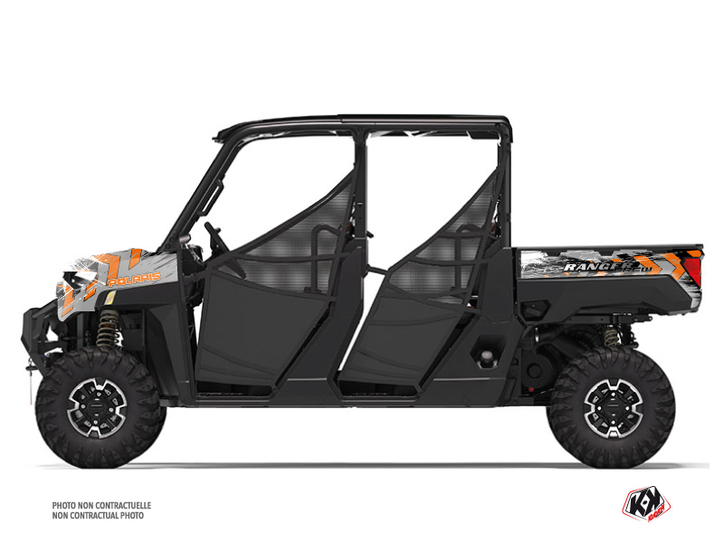 Polaris Ranger Crew UTV Lifter Graphic Kit Orange