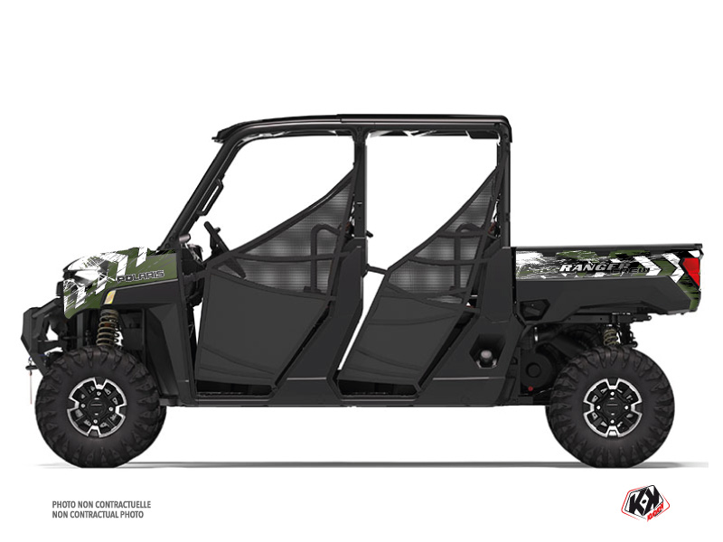 Polaris Ranger Crew UTV Lifter Graphic Kit Green