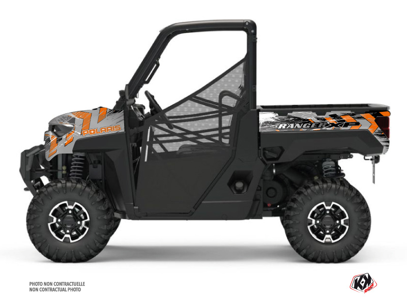 Polaris Ranger 1000 XP UTV Lifter Graphic Kit Orange