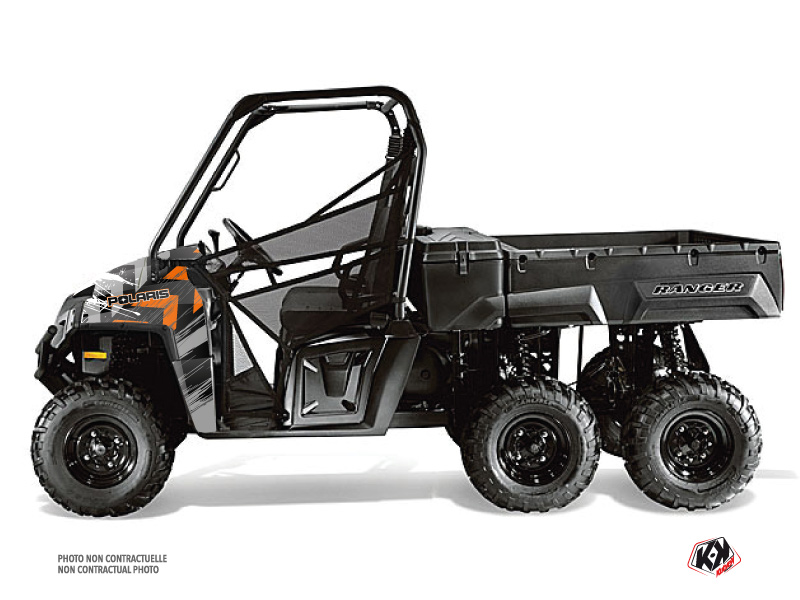 Polaris Ranger 6x6 UTV Lifter Graphic Kit Orange