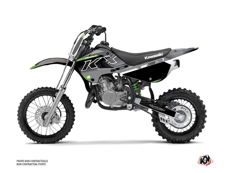 Kawasaki 65 KX Dirt Bike Live Graphic Kit Grey