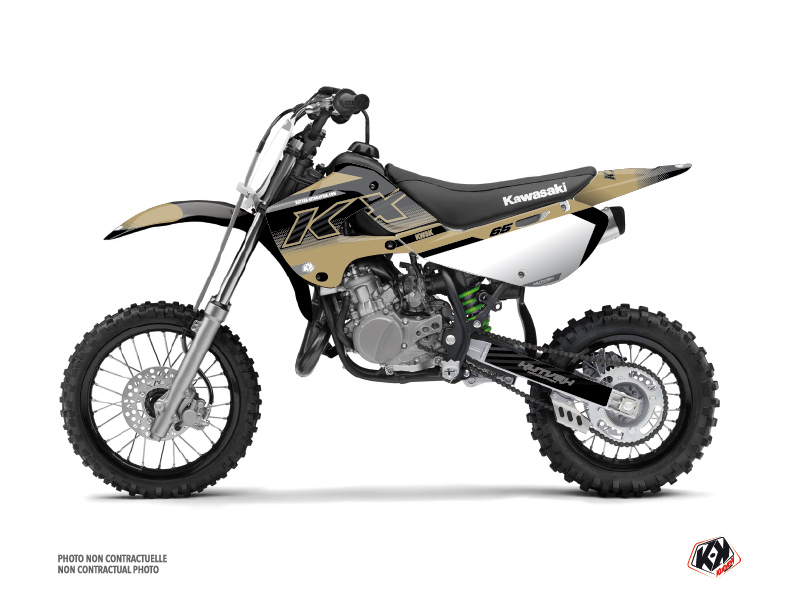 Kawasaki 65 KX Dirt Bike Live Graphic Kit Sand