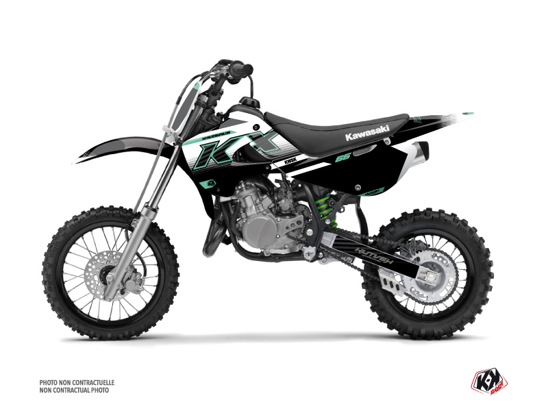Kawasaki 65 KX Dirt Bike Live Graphic Kit Turquoise