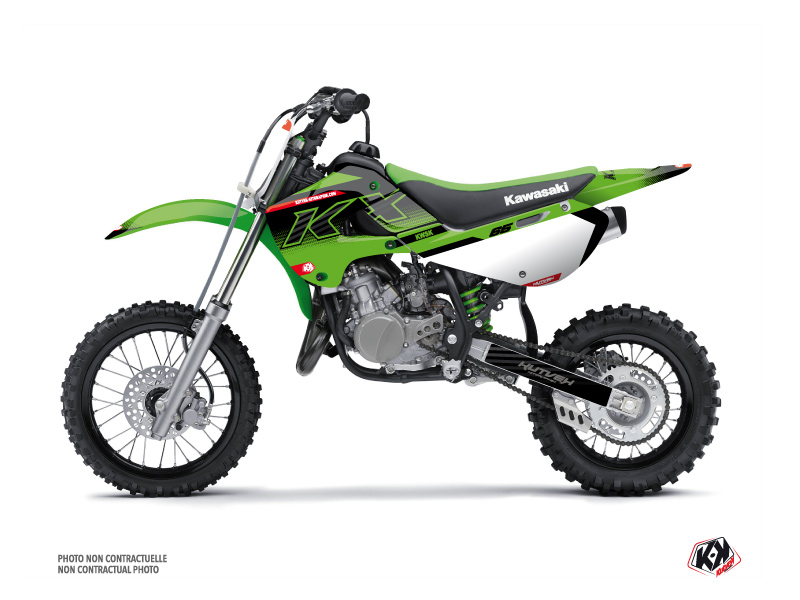 Kawasaki 65 KX Dirt Bike Live Graphic Kit Green