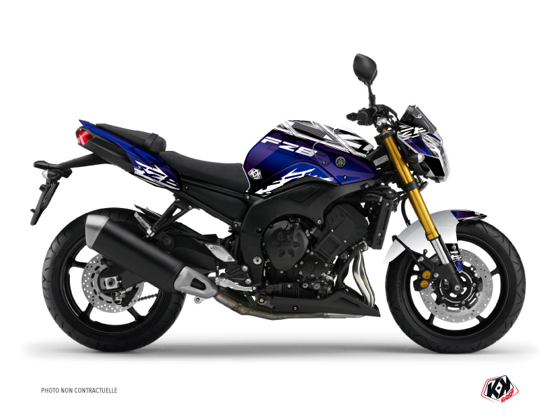 Yamaha FZ 8 Street Bike Mission Graphic Kit Blue