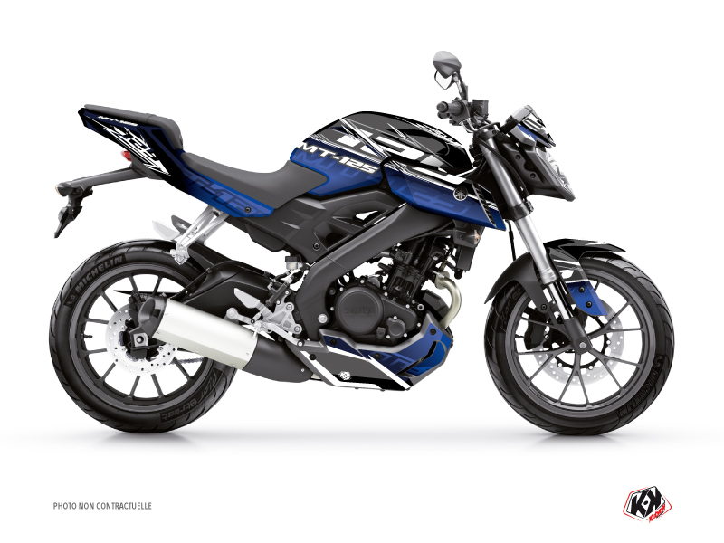 Yamaha MT 125 Street Bike Mission Graphic Kit Black Blue