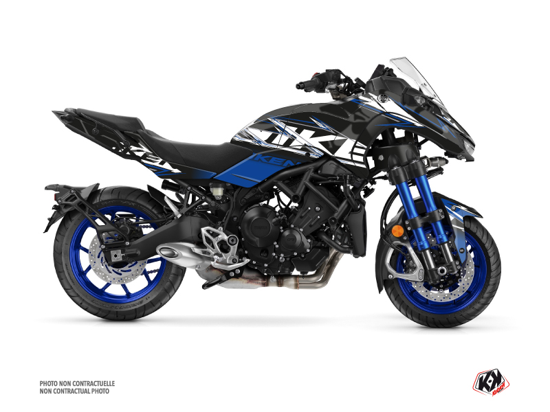 Yamaha NIKEN Street Bike Mission Graphic Kit Black Blue