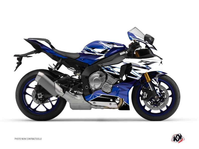 Yamaha R1 Street Bike Mission Graphic Kit Blue
