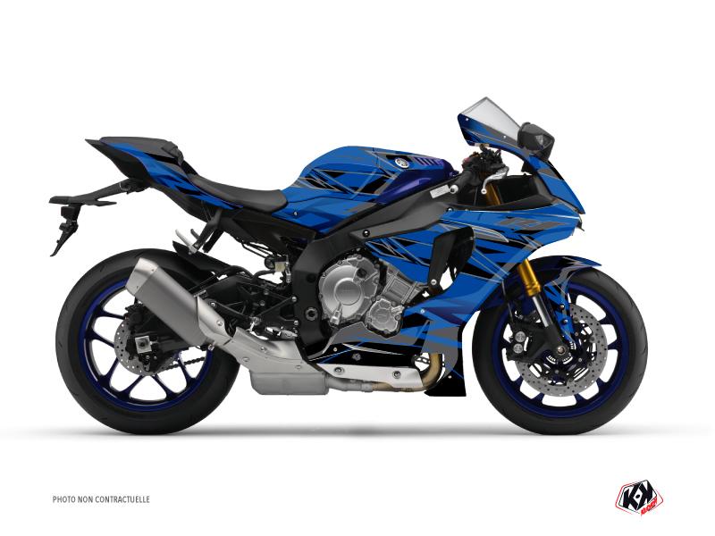 Yamaha R1 Street Bike Mission Graphic Kit Blue Black
